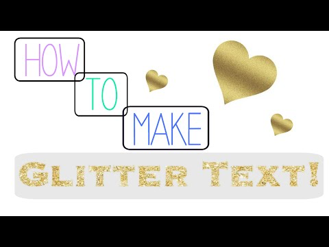 How To Make Glitter Text for iMovie Tutorial!