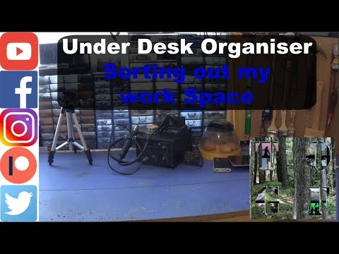 Under Desk Organiser || Sorting out my work Space ||