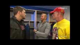 WWE Raw December 29th 2014 Edge, John Cena & Christian Backstage