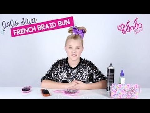 JoJo Siwa French Braid Bun Hair Tutorial