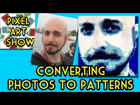 Perler Bead Tutorial: How to convert Photos to Patterns - Pixel Art Show