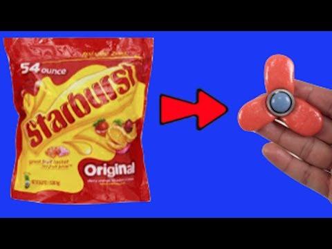 DIY Fidget Spinner With Starburst Candy!! Easy Fidget Spinner
