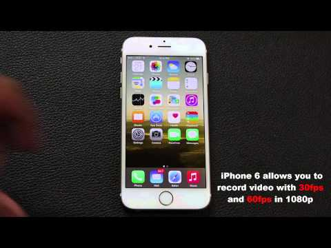 iPhone 6 Tip: How to record video at 60 fps in 1080p