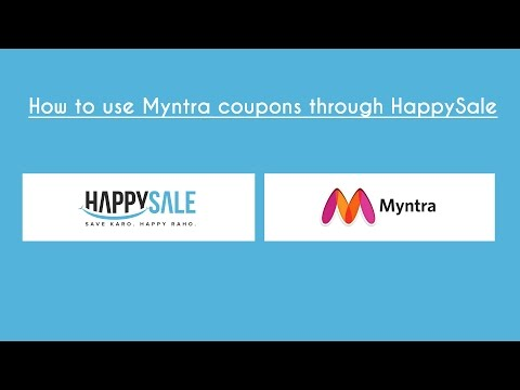 How to Use Myntra Coupons through HappySale