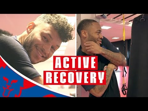Lingard and Sterling Hit the Punchbag in Active Recovery Session | Inside Training