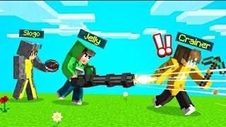 SPEEDRUNNER vs. MINIGUN HUNTERS In MINECRAFT!