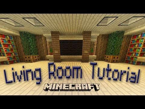 Minecraft:  How To Make An Awesome Living Room Design