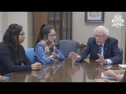 Bernie Meets with Dreamers