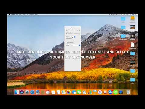 HOW TO INCREASE TEXT SIZE FOR DESKTOP ICONS ON MAC IN HIGH SIERRA