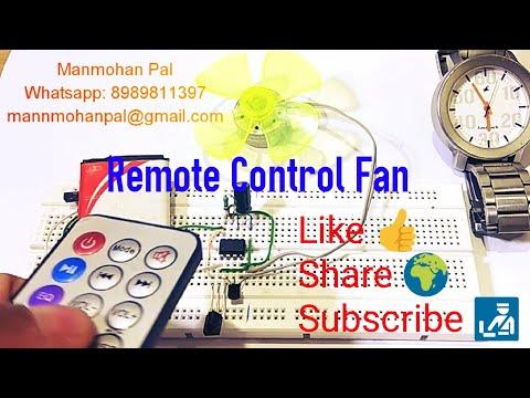 Remote control Fan- IR remote control Circuit using IC 555 Timer by Manmohan Pal