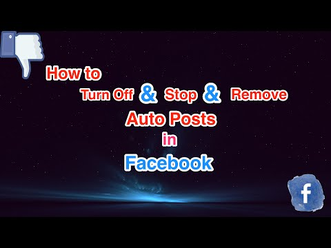 how to stop auto posts in Facebook
