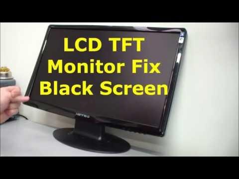 LCD TFT monitor fix, black screen, no display