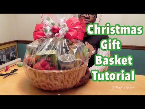 DIY Gift Basket Tutorial - Christmas Gift Basket - GiftBasketAppeal