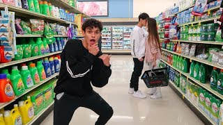 CRAZY DARES IN GROCERY STORE!