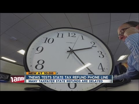 7NEWS tests state tax refund phone line