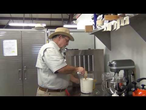 Making Egg Nog Ice Cream 2013