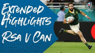 Extended Highlights: South Africa 66-7 Canada - Rugby World Cup 2019