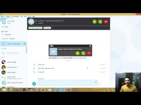 Make a Group Video&Audio call on Skype 2015