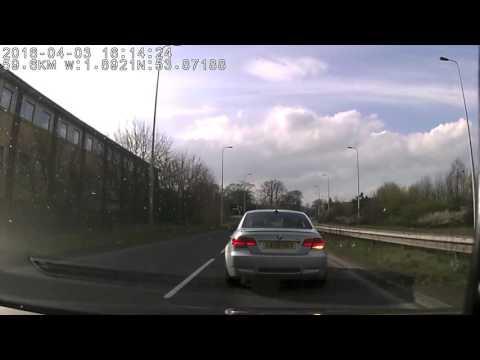 UK Bad Drivers, Road Rage, BMW M3, Registration Number: YA08HKY, Dash cam