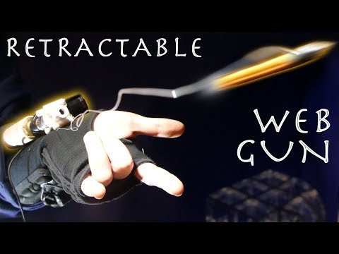 Make a C02 Retractable Spider-Man WEB SHOOTER!!!