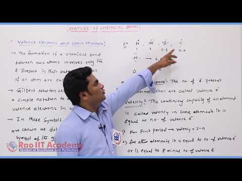Nature of Chemical Bond  Chemistry Part-1 std 11th HSC Board Video Lecture BY Rao IIT