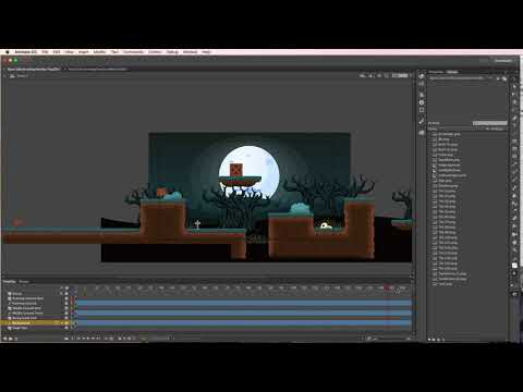 Animate CC Basic Parallax Side Scrolling Background