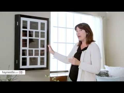 Collage Photo Frame Wooden Wall Locking Jewelry Armoire - Product Review Video
