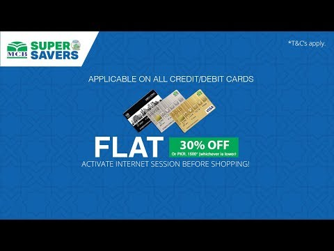 How to Get Additional 30% Discount On All MCB Cards - MCB Super Savers with Yayvo.com