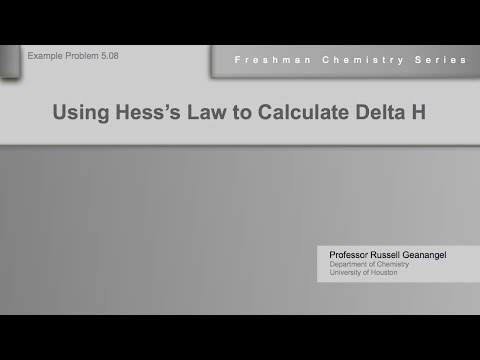 Chemistry Help Workshop 5.08: Using Hess's Law to Calculate Delta H of Combustion