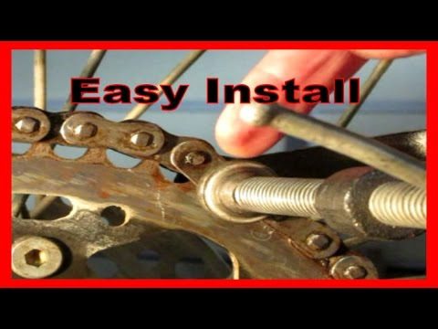 How to Install Masterlink for O-Ring Chain with Clip No Special Tools