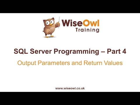 SQL Server Programming Part 4 - Output Parameters & Return Values