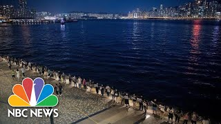 Download Inspired By Anti-Soviet Protests, Hong Kong Demonstrators Form Citywide Human Chain | NBC News Video