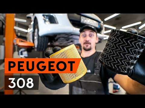 How to replace engine oil and oil filter onPEUGEOT 308 1T7 (4A_, 4C_) [TUTORIAL AUTODOC]