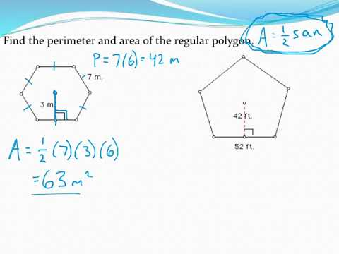 Calculating the area and perimeter of regular polygons given side and apothem
