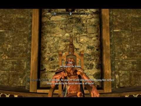 Skyrim: Need help with the Jarl (bug?)