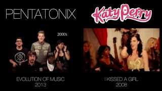 Evolution of Music - Pentatonix (side by side)