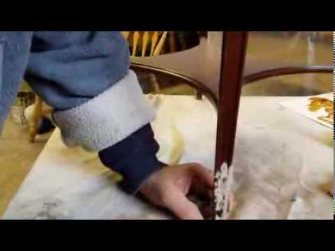 Repairing  Baker furniture at   timeless arts refinishing