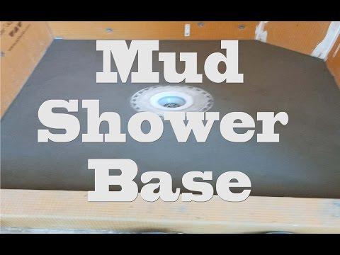 All glass tile Shower, step by step, Part 2, Shower mud base and Bonding flange
