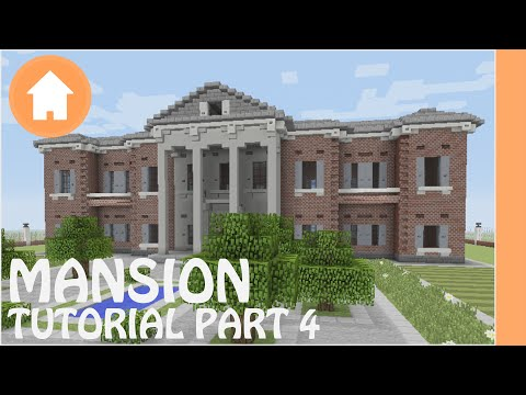 Minecraft Tutorial: How to Build a Mansion in Minecraft #4