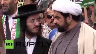 England: Imams and Rabbis lead pro-Palestine march on Al Quds day