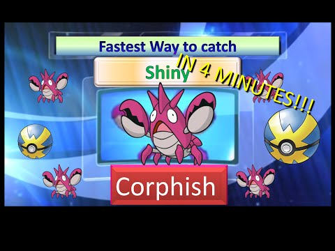Fastest way to get shiny corphish in Pokemon Omega Ruby Alpha Sapphire