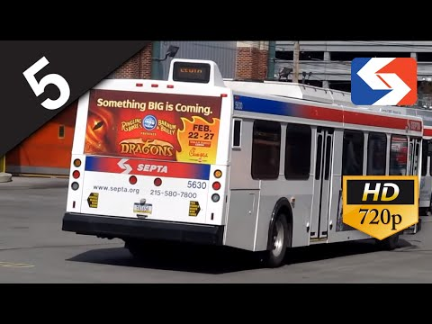 SEPTA Ride: 2003 New Flyer D40LF #5639 on route 5 to Front-Market