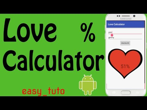 Love Percentage Calculator | Full App Development | Android Studio Tutorial (Beginners) HD |