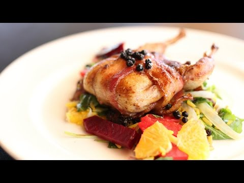Bacon Wrapped Quail Stuffed with Dates Recipe!