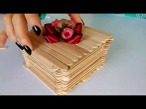 How to make jewellery Box with popsicle sticks