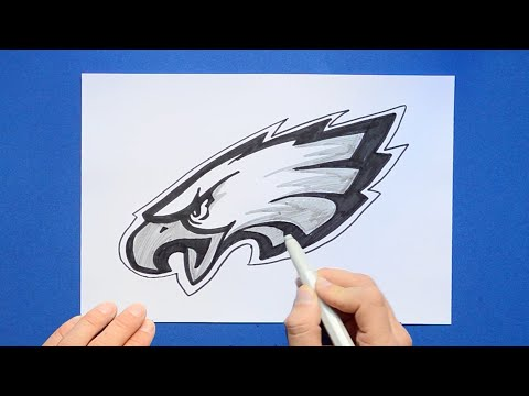 How to draw and color the Philadelphia Eagles Logo - NFL Team Series