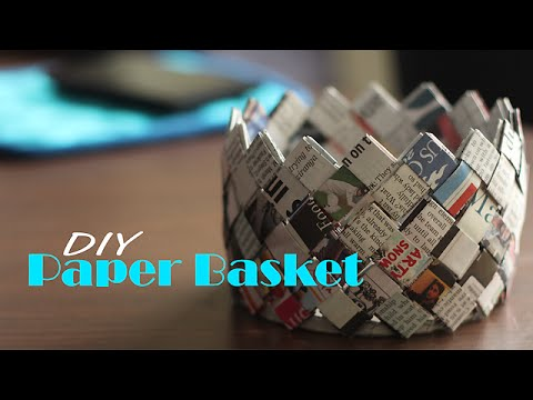 How to make Paper Basket |  Do It Yourself