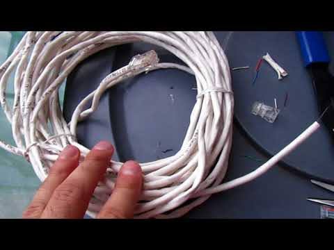Installing new RJ45 connectors on Cat 5e Cable!  EASY! Ethernet cables!