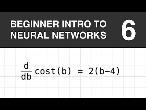 Beginner Intro to Neural Networks 6: Slope of the Cost Function