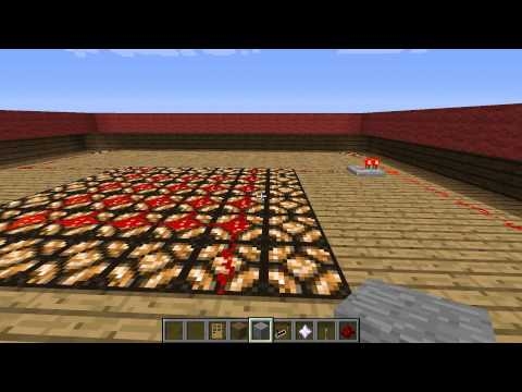 Minecraft: How to make a light Switch with Redstone Lamps (Minecraft 1.4.7 update) (Remake)